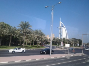left side road going to venice of dubai to Jumeirah