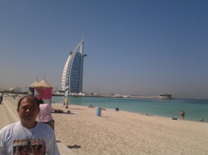 Me at borj al arab jumeirah beach