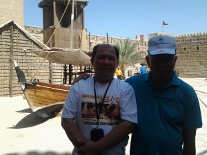 Me and Just Grino at Dubai Museum