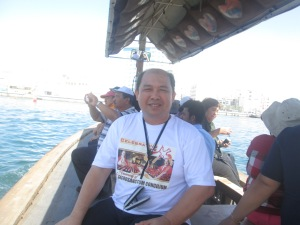 798 riding on a boat from dubai museum to market